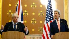 Boris Johnson and John Kerry