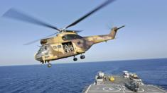 A French helicopter serving with Eunavfor-Somalia force