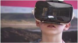 Kid using VR