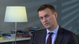 Russia's main opposition leader Alexey Navalny says Mr Trump's views are