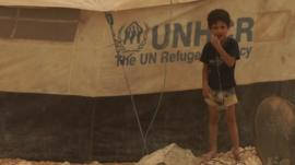A young Syrian refugee