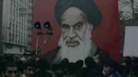 Portrait of Khomeini
