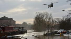 Chinook helicopter over York