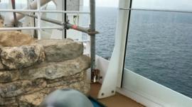 Construction work on cruise ship