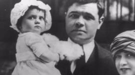 Babe Ruth and daughter