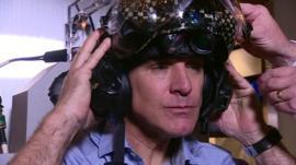 Jonathan Beale wearing helmet