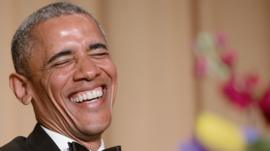 Obama laughs at WHCD