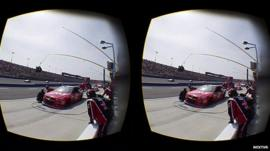 VR footage of a live car race