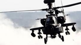 An American Boeing AH-64 Apache