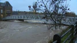 Bridge over River Teviot in Hawick, Scottish Borders