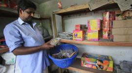Nand Kumar at his shop