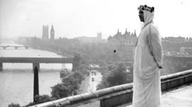 Saudi man in London in 1937