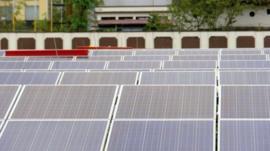 Solar panels at Cochin International Airport