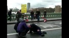 Radoslow Sikorski was crossing Westminster Bridge when he heard a crash.