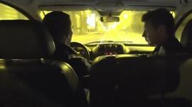 Ian Pannell in car in Brussels