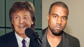 Sir Paul McCartney and Kanye West
