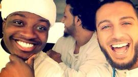 Jae Deen and Karter Zaher of the Muslim rap duo Deen Squad
