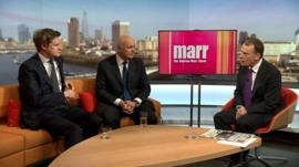Tristram Hunt and Iain Duncan Smith on the Andrew Marr show