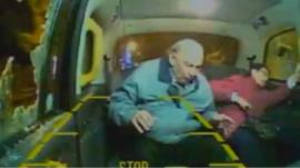 CCTV from back of cab