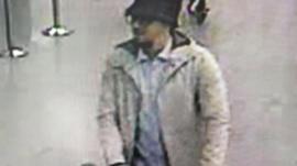 Suspect captured on CCTV at Zaventem airport