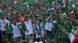 Rally in Myanmar