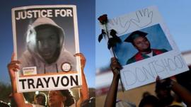 Trayvon Martin and Michael Brown posters