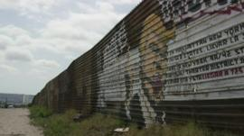 Trump mural on Mexico-US border