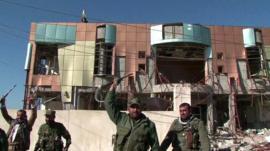 Kurdish Peshmerga fighters in Sinjar