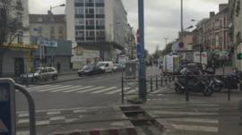 Empty streets of Saint-Denis