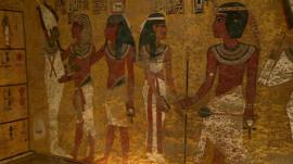 North wall of King Tutankhamun's burial chamber