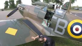 One of the aircraft due to take part in the Battle of Britain flypast