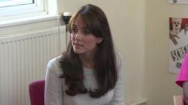 The Duchess of Cambridge at a women's prison in Surrey.