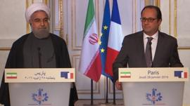 President Hassan Rouhani and President Francois Hollande