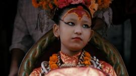 This is the Kumari from Patan, near Kathmandu
