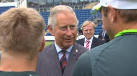 Prince Charles meeting Ashes teams