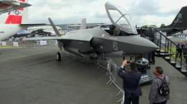 F35 on display at Farnborough