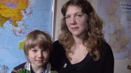Laura and her son Louis