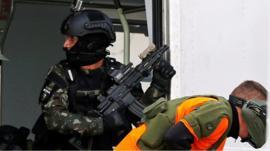 Terror training exercise in Rio