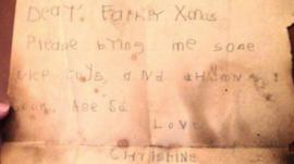 Letter sent to Father Christmas in the 1930s