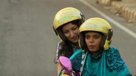 Bikxie driver Ruby makes her way around Delhi