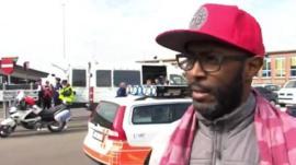 Eyewitness outside Brussels airport