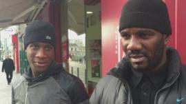 Residents in Saint-Denis