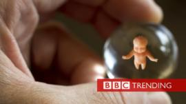 Image of foetus in a bubble
