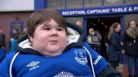 Everton fan Noah