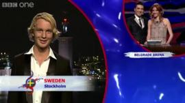 Eurovision results 2008
