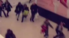 Video footage shows shoppers fleeing in Bromley