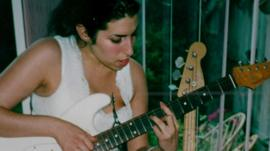 Amy Winehouse in the documentary, Amy.
