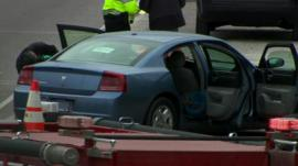 Car being examined by Police