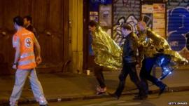 Survivors escorted away from Bataclan concert hall