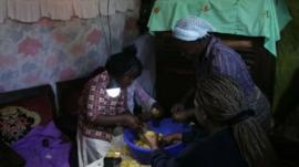 Kenyan home using solar power